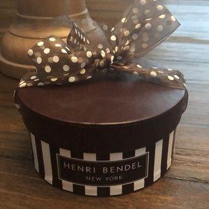 Henri Bendel mini hat box (empty)